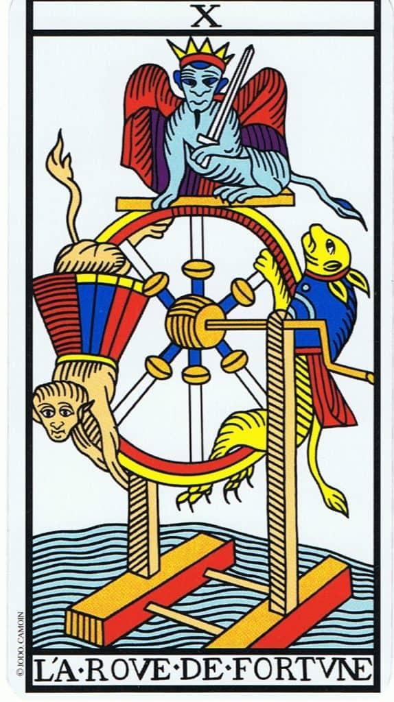 la ruota della fortuna nei tarocchi